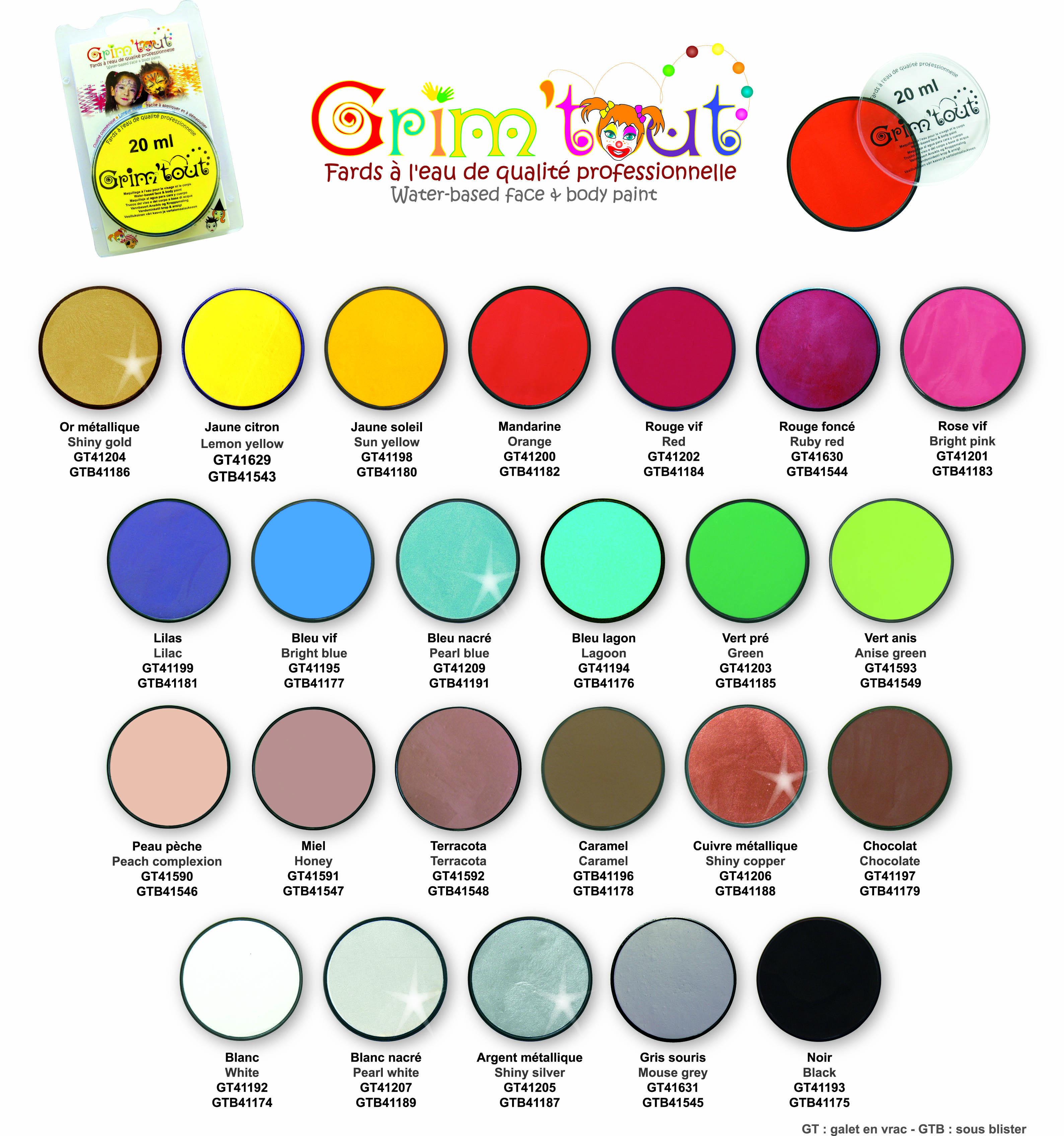 Maquillaje al agua para cara y cuerpo 20ml comprar en for Como hacer color gris con pinturas